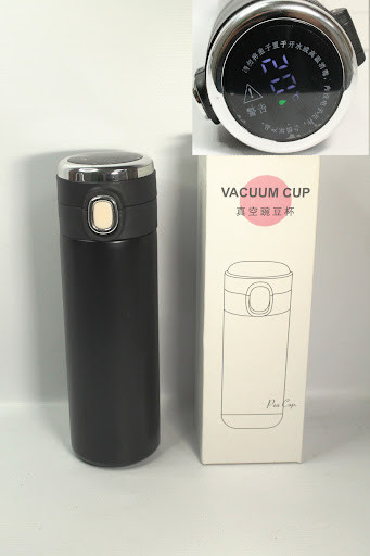 Вакуумный термос термочашка с индикатором температуры BLF 8022 420мл черный термос для чая термоя для кофе