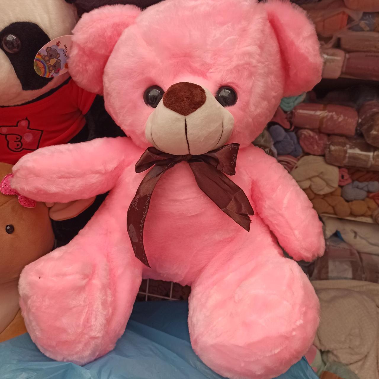 Плед іграшка подушка 3в1 Мишко | Іграшка дитячий плед | Іграшки-Подушки | М'яка іграшка Ведмедик Рожевого кольору