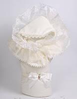 Роскошный конверт-одеяло для новорожденной девочки