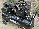 Повітряний ремений компресор Білорусь 50л 3.8кВт 670л/хв 2 поршня, фото 3