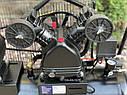 Повітряний ремений компресор Білорусь 50л 3.8кВт 670л/хв 2 поршня, фото 7