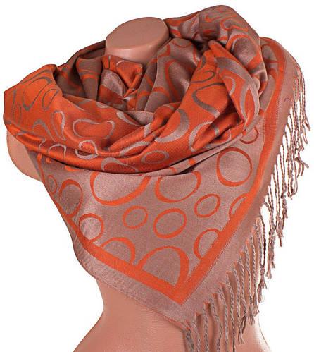 Женский оранжевый двусторонний палантин из пашмины 174 на 70 см ETERNO (ЭТЕРНО) ES0406-8-28