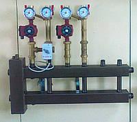 Распределительный коллектор с 4 верхними/нижними отводами и гидравлической стрелкой
