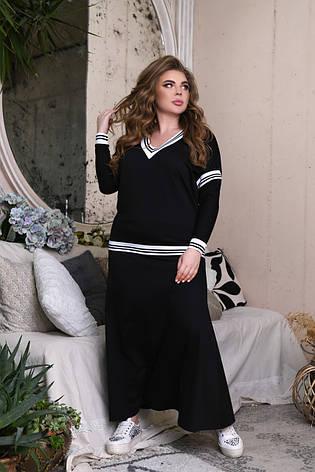 Юбочный костюм для полных женщин с джемпером, фото 2
