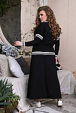 Юбочный костюм для полных женщин с джемпером, фото 3