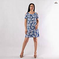 Сукня жіноча батальне літній блакитне 44-56р.