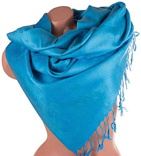 Небесной лазури женский двусторонний палантин из пашмины 182 на 67,5 см ETERNO (ЭТЕРНО) ES0406-8-6