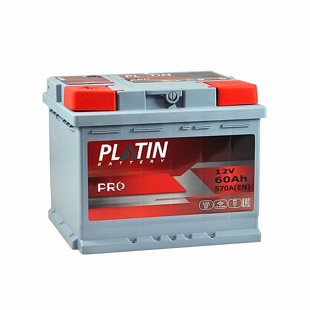 Аккумулятор Platin 60A 570En (+ -)