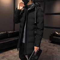Мужская зимняя куртка парка пуховик, очень тёплая, чёрная. РАЗМЕРЫ 44-52, фото 1