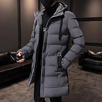 Мужская зимняя куртка парка пуховик, очень тёплая, серая. РАЗМЕРЫ 44-52, фото 1