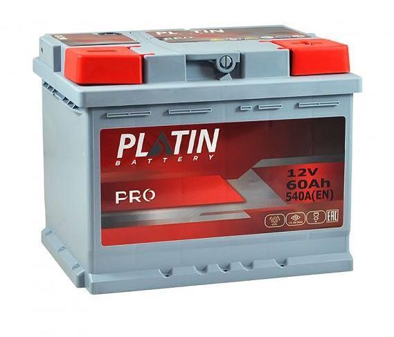 Акумулятор Platin 60A 570En (- + )