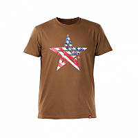 Футболка Airboss USA MSU365856 (коричнева)