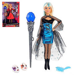 Лялька типу Барбі з чарівною паличкою DEFA 8395-BF на шарнірах (Блакитний)
