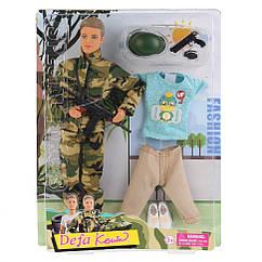 Лялька Кен у військовій формі DEFA 8412 на шарнірах (Блакитний )