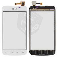 Сенсорный экран (touchscreen) для LG Optimus L5 E455, белый, оригинал