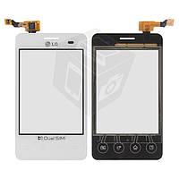 Touchscreen (сенсорный экран) для LG Optimus L3 E405, оригинал (белый)