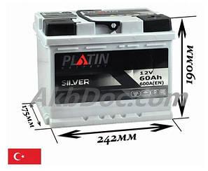 Акумулятор Platin 60A 600En (- +)