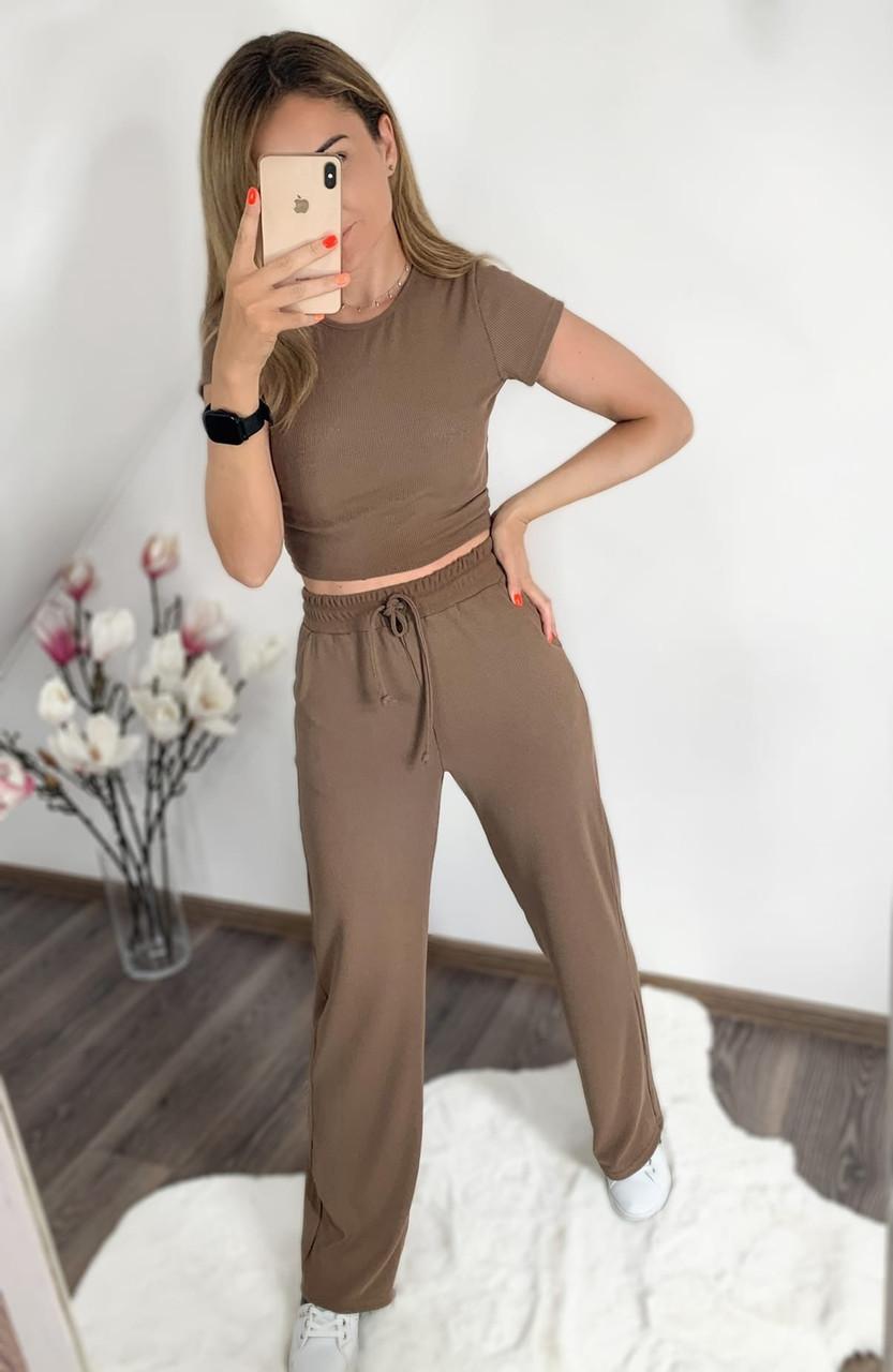 Стильный костюм женский (топ и штаны)