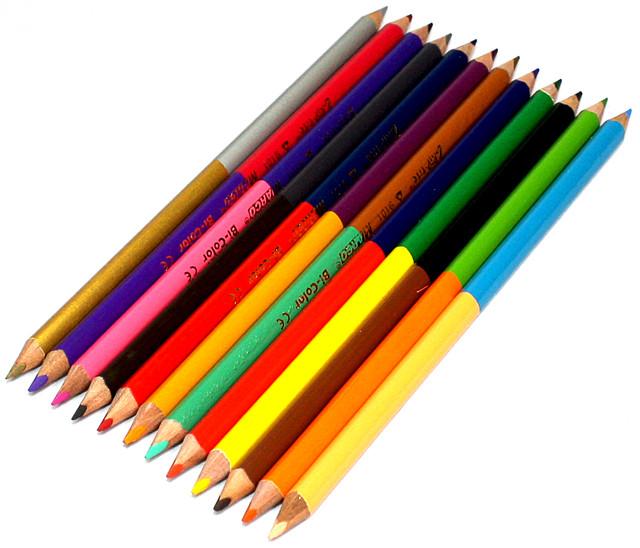 Карандаши цветные 2-х-цветные Marco