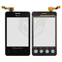 Touchscreen (сенсорный экран) для LG Optimus L3 E405, черный, оригинал