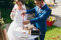 Песочная церемония с цветом марсала