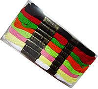 Мулине для вышивания (24шт/набор) ассорти