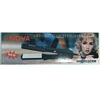 Керамический утюжок для выпрямления волос Nova NHC-522 CRM, фото 1