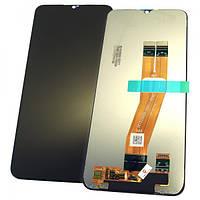 Дисплей Samsung A025F / A025M / Galaxy A02S з сенсором, чорний GH81-18456A (оригінал 100%), фото 1