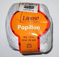 Пряжа Lanoso, Papillon белая