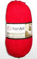 Пряжа YarnArt шерсть, красная