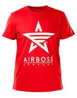 Футболка Airboss White Logo 271230003225 (червона)