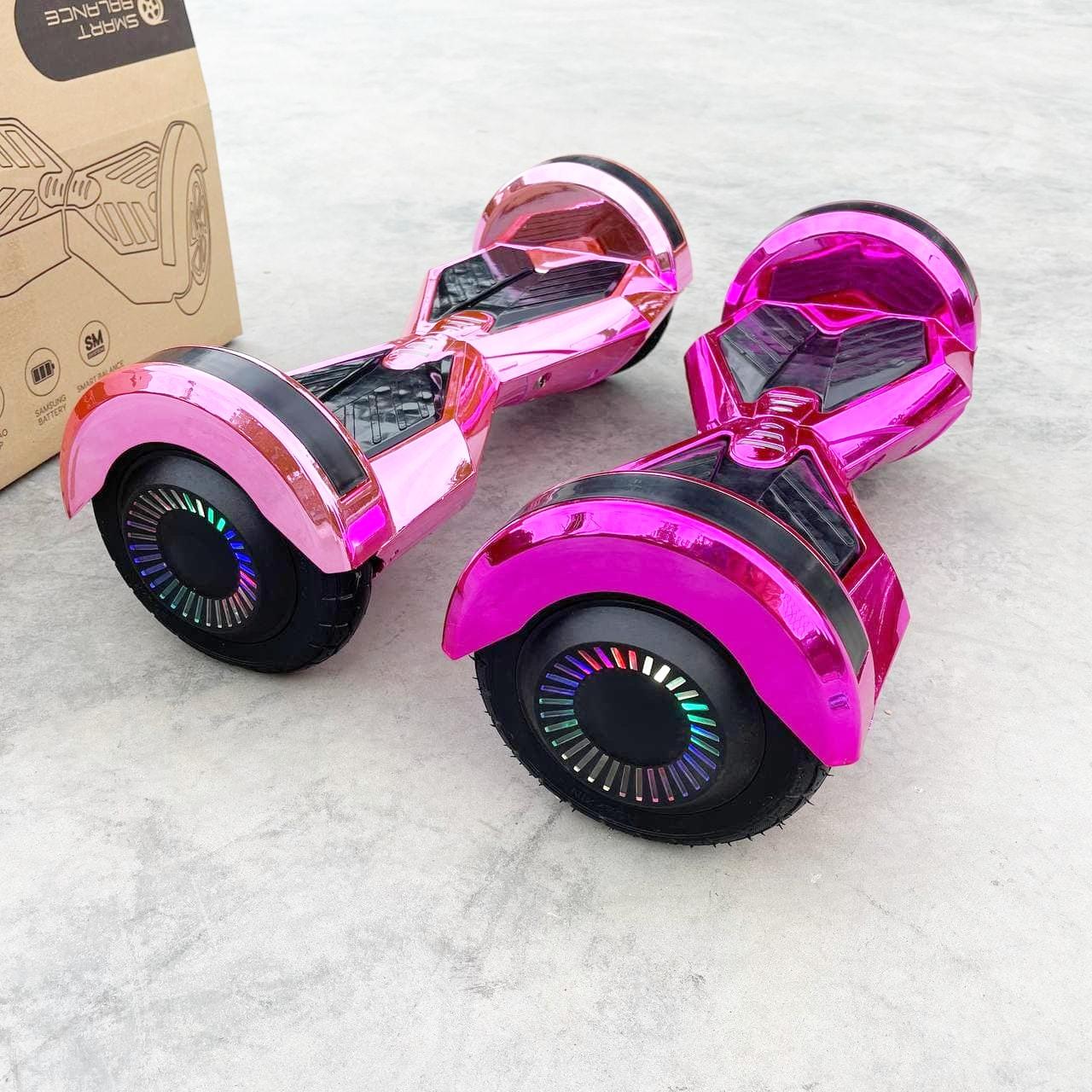 """Гироборд гироскутер Smart Balance 8""""  Розовый Хром Самобаланс  Сумка в Подарок"""