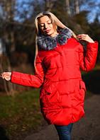 Зимняя куртка  с исскуственным  мехом