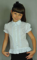 """Школьная стильная  блузка """"Свит блуз"""" мод. 2075к  р.122"""