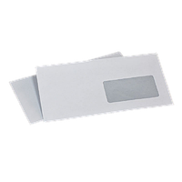 Конверт С65 (0+1) вікно мокроклеющийся (автомат) (1000 шт. в уп.) 114 х 229 мм