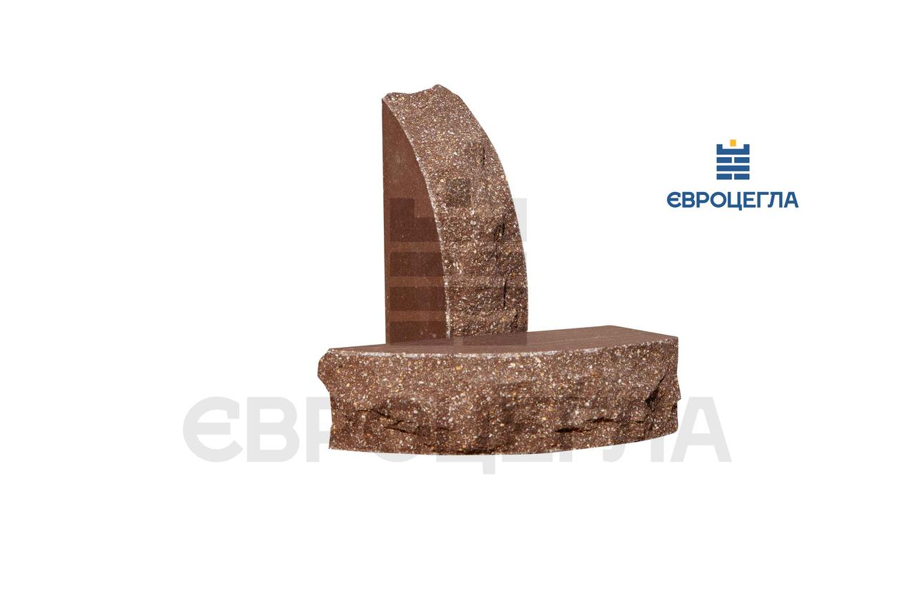 Декоративна Цегла скеля напівкругла 230х90х65