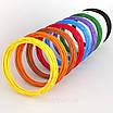 Набір різнокольорового пластику для 3D-ручки з 5 кольорів PLA 49 метрів без запаху, фото 4