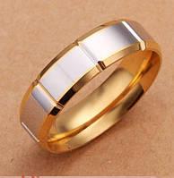 Обручальное кольцо,покрытое серебром р 17,18,19 код 869