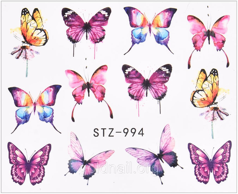 Слайдер водный для дизайна ногтей STZ- 994