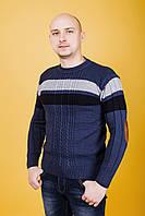 Мужской свитер с латками
