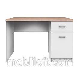 Письмовий стіл BIU 1D1S/120 Топ Мікс / Top Mix білий/дуб сонома