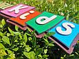 Ім'я з дерева Дерев'яна напис, хештеги, букви, вивіски з дерева. Логотип бренду з фанери, фото 2