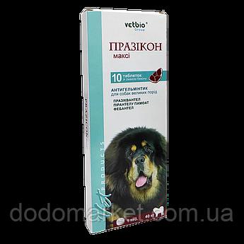Празикон Макси таблетки от гельминтов для больших собак 1 таблетка на 40 кг №10 Vetbio