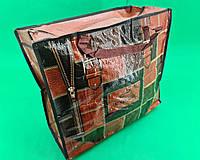 Сумка хозяйственная , полипропиленовая,  с цветным рисунком  №3 Кожа (10 шт), фото 1