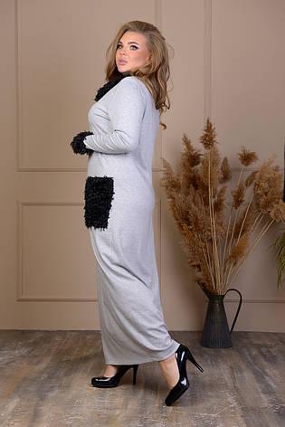 Длинное осеннее платье большого размера, фото 2