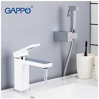 Смеситель для раковины с гигиеническим душем Gappo G1017-1