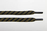 Шнурки 7мм. черный + желтый