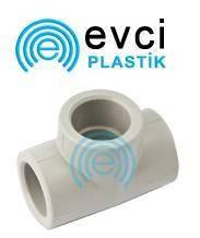 Тройник равный 25 для полипропиленовых труб Evci Plastic