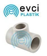 Тройник переходной 25*20*25 для полипропиленовых труб Evci Plastic
