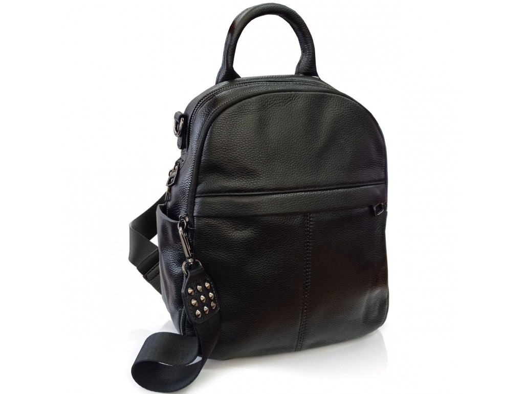 Рюкзак жіночий Olivia Leather.Жіночий рюкзак з натуральної шкіри чорного кольору.